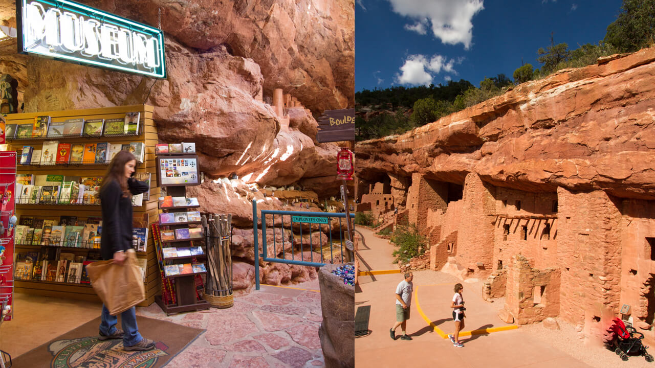 Museum And Dwellings At The Manitou Cliff Dwellings