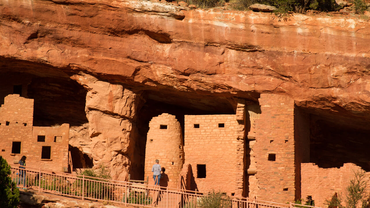 Anasazi Dwellings At The Manitou Cliff Dwellings